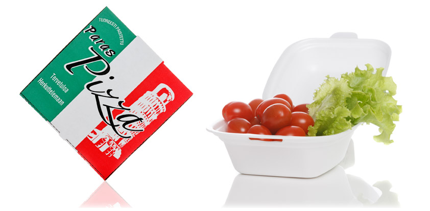 Pizzalaatikko & elintarvikerasia